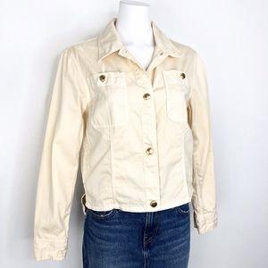 J Crew   Tan Denim Khaki Jacket